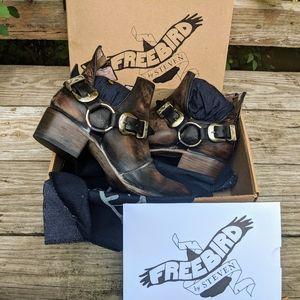Freebird BY STEVEN TRUCE LEATHER ANKLE BOOTIE